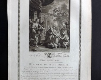 Delignon after Giordano 1786 Antique Print. La Piscine