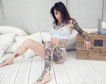 Lace gogo blackwater print for Blackwater tattoo studio