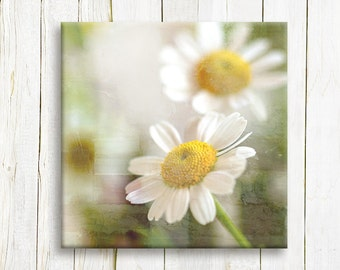 White flower art printed on canvas  canvas art - home and living - bedroom decor - wedding gift idea