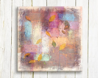 Abstract art printed on canvas- Pastel colors on canvas - housewarming gift idea