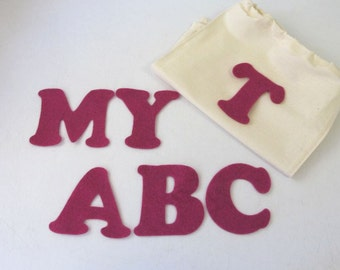 Felt Board Pieces, Fabric Letters, Felt Letters, Learn to Read, Educational Toy, abc Letters, Flash Cards