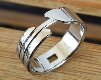 """13.5 """"OAK"""" womens handmade stainless steel ring (not casted)"""