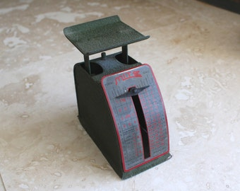 1940s Mite Postal Scale - small postal scale - vintage postage scale - Masco Corporation scale - small metal scale - desktop scale