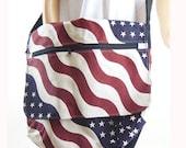 Canvas Tote Bag American Flag Bag