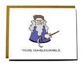 Dumbledore Valentine, Funny, Geeky Valentine's Day card. You're adorable, I love you