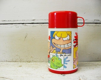 Vintage Rugrats Thermos - Complete - Angelica Tommy Pickles Rug Rats