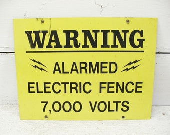 Electric Fence Sign Danger Sign Metal Sign Warning Sign 2 Sided