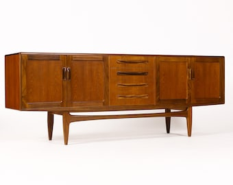 Danish Modern / Mid Century Vintage Large Teak Credenza / Sideboard  — Fresco line for G-Plan — Cosmetic Second