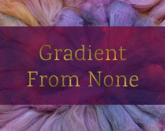 Gradient From None - Combed Top and Roving Spinning Fiber Tutorial - Handspun Yarn Tutorial