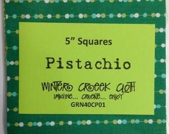 """Pistachio 5"""" Squares (GRN40CP01)"""