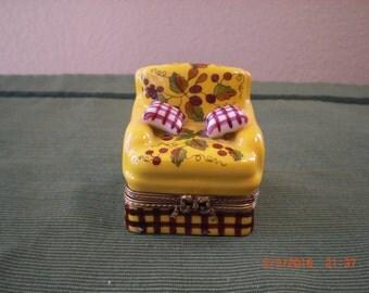 Peint Main Limoges chair box