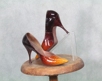 Volcano Stilettos Vintage 1960s Heels - Andrew Geller Size 6 1/2B