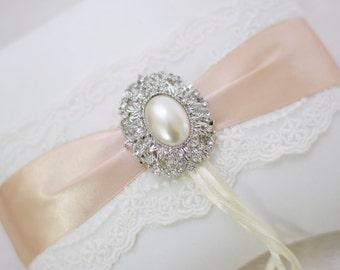 Wedding pillow / ring pillows - ecru, vintage