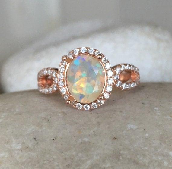 natural opal engagement ring rose gold opal ring promise. Black Bedroom Furniture Sets. Home Design Ideas