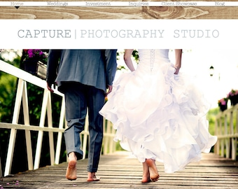 Rustic WEDDING Photography Website AND BLOG - Photography Included - Outdoor & Natural
