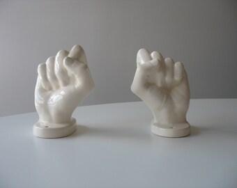 Vintage Ceramic Hand - Hand Shaped Towel Holder