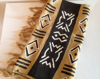 African Mud Cloth Scarf