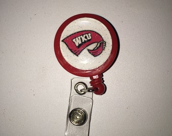 ID badge reel -retractable ANY sports team or saying