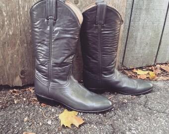 1980s tony lamas gray cowboy boots womens sz 6
