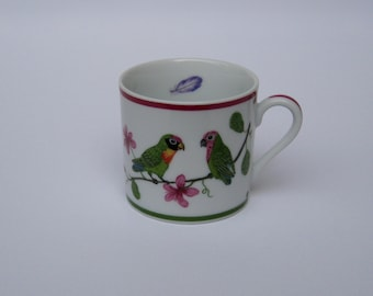 Lynn Chase Parrots of Paradise Demitasse/Expresso Cup 1989