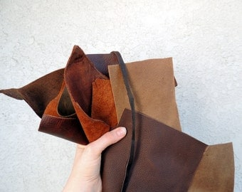Scrap Leather Scraps Fabric Scraps Leather Remnants Genuine Leather Cowhide Scraps Leather bundles Leather straps Leather Pieces