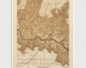 Old Grand Canyon Map Art Print 1903 Antique Map Archival Reproduction USGS National Park Map