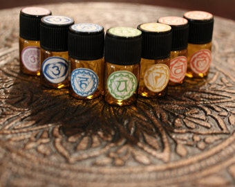 Chakra Balancing Set Organic Essential Oils