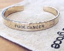 F*ck Cancer Bracelet, Fuck Cancer Bracelet