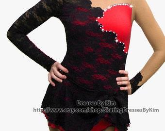 Custom Figure Skating Dress, Baton Twirling Costume, Dance Dress