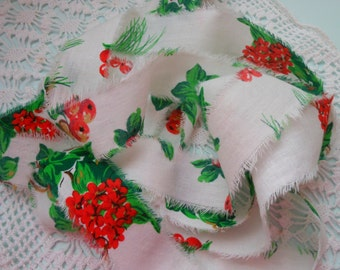Hand Torn Handmade Christmas Ribbon, Vintage Torn Ribbon, 6 yds Handmade Ribbon, Holiday Ribbon, Vintage Ribbon, Gift wrap, Bows, Garlands