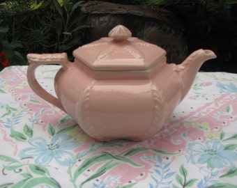 Hall Pink Plume Feathers Teapot Starfish Beach House 1940s