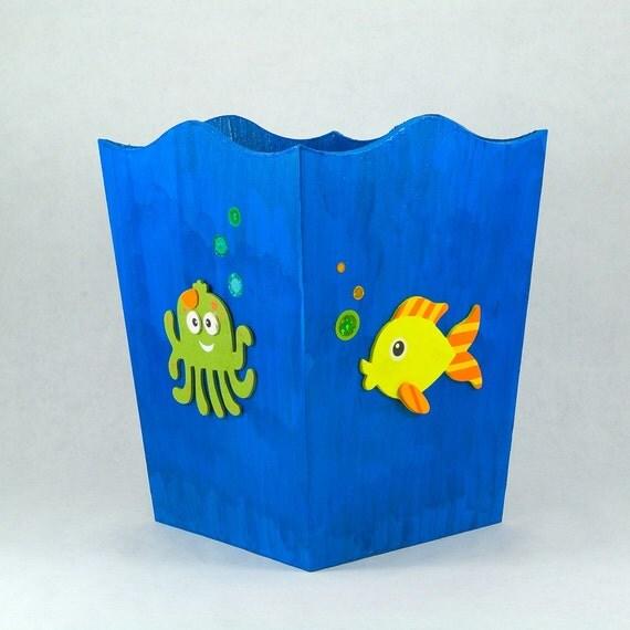 Sea Animal Theme Waste Basket (any color)