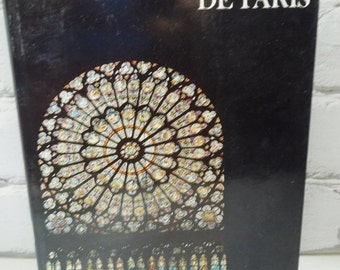 On Sale Price Notre-Dame De Paris. Vintage Hardcover Book. Circa 1971. Famous Parisian Architecture in the City of Lights and Romance. Beaut