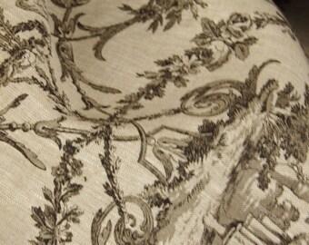 Toile de jouy linen modern et chic Pastorale 100 x 150 cm or more