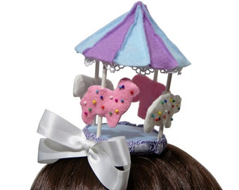 Sweet Frosted Circus Animal Cookie Carousel Hat