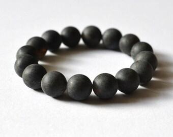 Amber Bracelet Black Geometric Urban Gemstone Jewelry Black Women Dark Night