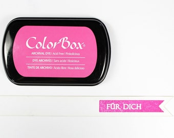 Pink ink stamp pads archival ink ColorBox