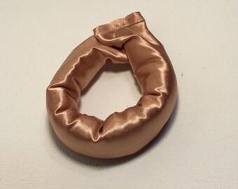 1 inch Bronze/Copper Satin Hair Bun Maker/Fabric Hair Accessory/Fabric Hair Curler/Fabric Hair Roller.