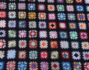 beautiful granny square afghan / throw blanket