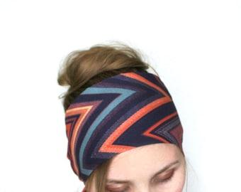 boho head scarf summer head accessory cotton thin scarf tie up head wrap chevron head band chic hippie hair style long headwrap bohemian