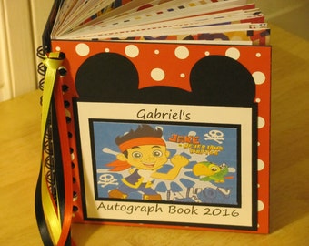 Disney CRUISE Autograph Book JAKE the PIRATE Scrapbook Boy or Girl Keepsake