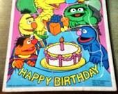 Collectible Wood Puzzle Playskool Happy Birthday Cake Sesame Street Ctw Vintage