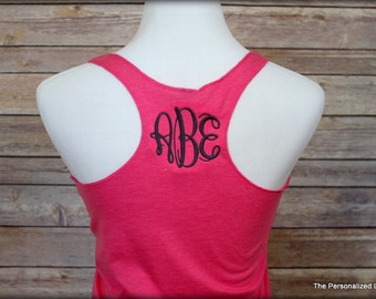 Monogrammed Racerback Tank - Personalized Tri-Blend Tank Top