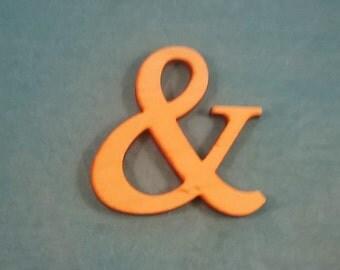 Vintage Wood Letters, Punctuation Mark, Ampersand, 70mm - Paint or Stain, Wood Crafts, Scrapbooking, Card Making, Wreaths - DESTASH