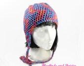 Ladies Multicoloured EarFlap Hat Trapper Hat