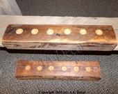 Rustic Pool Cue Holder - Reclaimed Wood Game Room Billiards Cue Holder - Barnwood Pool Cue Holder