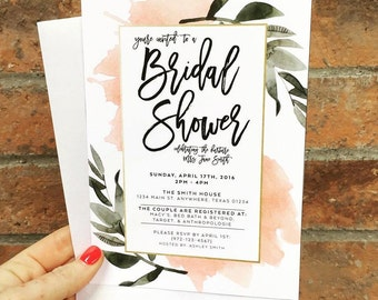 Botanical Bridal Shower Invites