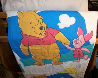 Disney Winnie the Pooh and Piglet Twin Flat Sheet
