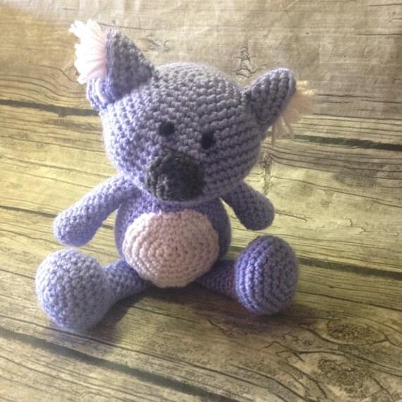 Crochet Koala amigurumi lovie crochet koala Periwinkle