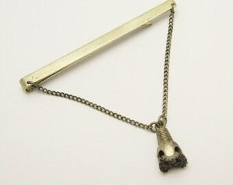 Wide Sterling Tie Bar Mining Tool Oil Drill Bit Jewelry H788